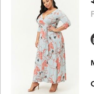 forever 21 plus size print dress